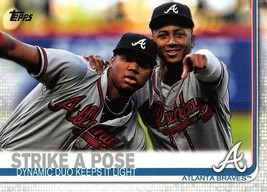 2019 Topps #508 Strike A Pose > Ronald Acuna Jr. & Ozzie Albies > Atlanta Braves - $0.99