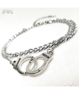 DWL Freedom Handcuffs Kinky Anklet in Silver - $11.99
