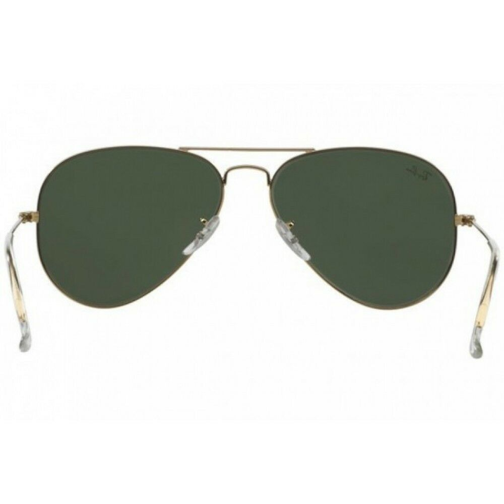 New Ray Ban Classic Aviator RB 3025 W3341 58mm Gold w/G-15 Green