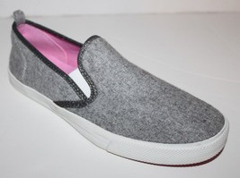 Gap NWOB Women's Heather Gray Flannel Slip On Athletic Tennis Shoes Loafers - $41.03
