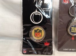 NEW NFL NY Giants Set of 5 Key Chains image 4