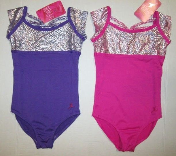 New Girls XS 4-5 MC 8-10 LC 12-14 Leotard /& Shorts Set Dance Gymnastics Cheer