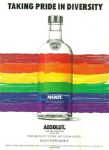 TAKING PRIDE IN DIVERSITY Absolut Vodka Magazine Ad FREE SHIPPING U.S. &... - $8.00