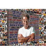 Bruce Springsteen Album Cover and Song Title Word Art Mosaic - $49.00+