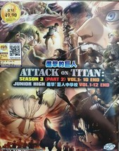 Attack On Titan Season 3 Part 2 1-10 End + Junior High English Dub Ship From USA