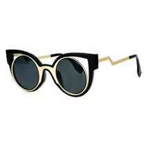 Womens Fashion Sunglasses Round Cateye Double Frame Zig Zag Design - $10.84+