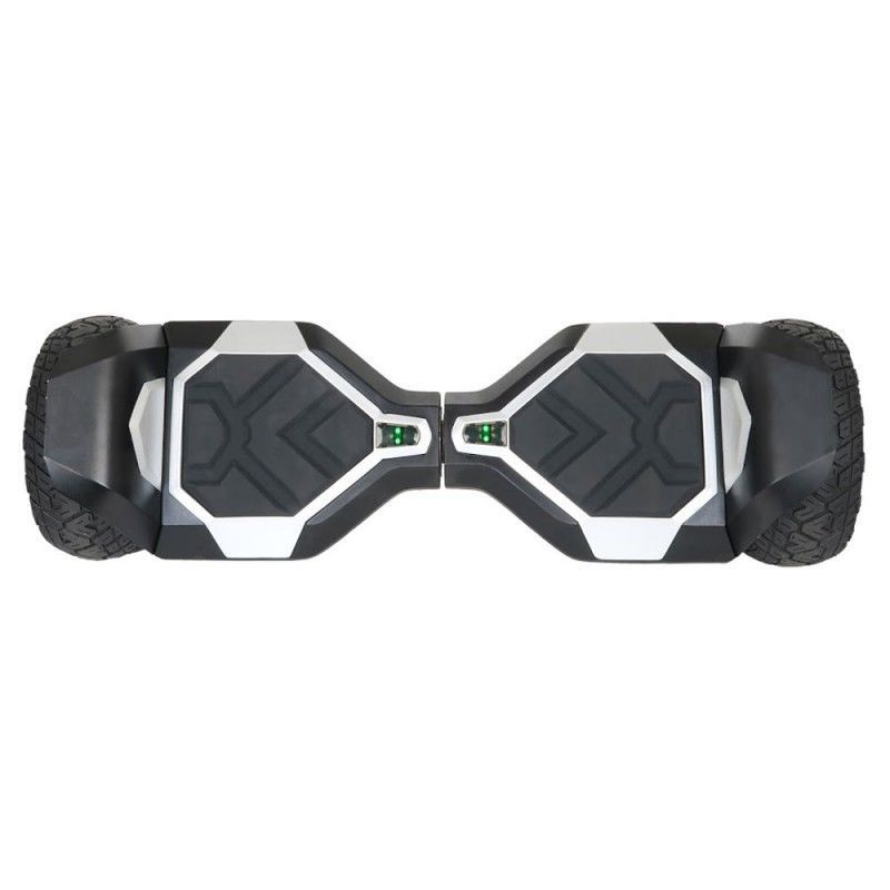 """Silver All Terrain Off Road Bluetooth 8.5"""" Hoverboard Two Wheel Balance Scooter"""