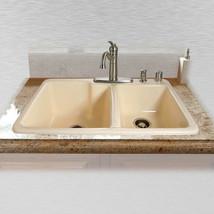 "Redondo 734-5 Offset Self Rimming Kitchen Sink 33"" x 22"" x 10"" / 8""-Almond-LOCAL - $435.37"