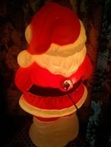 SANTA CLAUS BLOW MOLD CHRISTMAS HARD PLASTIC LIGHTS CORD 1999 GRAND VENT... - $29.65