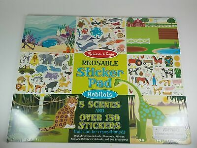 Melissa Doug Reusable Sticker Pad Habitats And 26 Similar