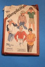 83 Simplicity Sewing Pattern 6054 Boys' Raglan Sleeved Top Pullover Shir... - $11.63