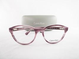 Calvin Klein CK5881 500 Optical Frame Violet Marbled Round Eyeglasses - $56.06