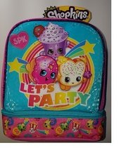 Shopkins Two Compartment Let's Party Lunch Bag + Bonus Snack Container &... - $35.95