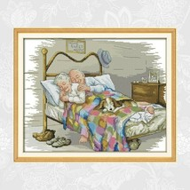 Lovely Old Married Couple Pattern Chinese Cross Stitch Kits Home Decorat... - $16.99+