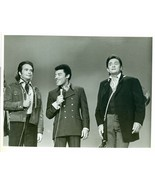 Photo ~ JOHNNY CASH and O.C. SMITH ~ Black and White ~ 8 x 9 ~ GLOSSY - $4.94