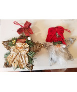 Twig Star branches Santa christmas ornaments lot silver gold decorations - $4.99
