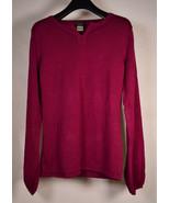 Nicole by Nicole Miller Womens Sweater Burgundy Sample M - $39.60