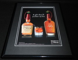 2016 Maker's Mark Whisky Framed 11x14 ORIGINAL Advertisement - $32.36