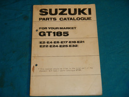1973 73 1974 74 1975 75 1976 76 Suzuki GT185 Gt 185 #3 Parts Catalog Book Manual - $31.22