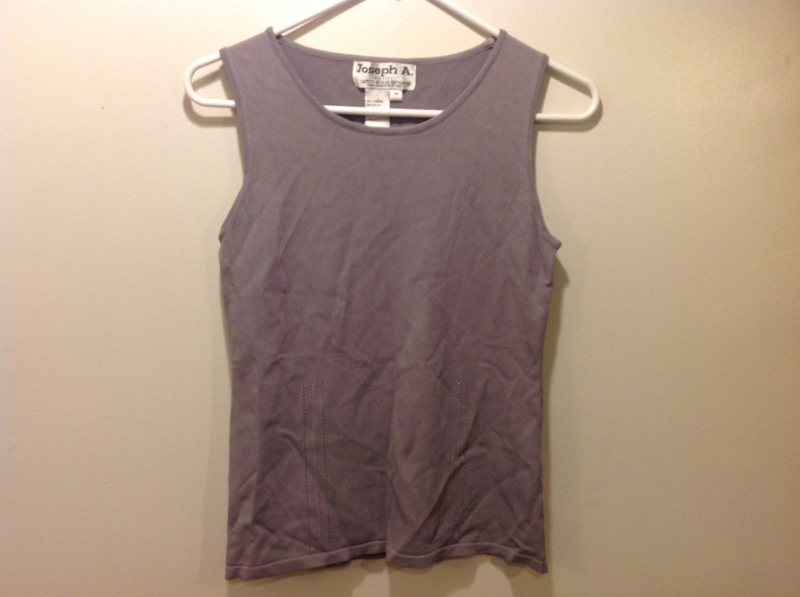Joseph A. Grey Stretchy Pullover Tank Top Sz PM