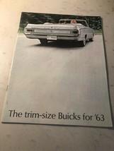 Original 1963 Trim Size Buick Sales Brochure ~ Color ~ Oem - - $11.10