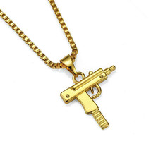Unisex Fashion Uzi Gun Alloy Pendant Necklace Chain Punk Hip Hop Jewelry Gift N - $9.99