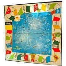 1963 Mouse Trap Board Game, AUTHENTIC ORIGINAL VINTAGE playing board (mo... - $19.99