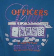 Vintage Showboat Casino Officers Club blue Poker gambling Tee SZ L - $19.77