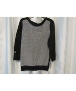 NWT Karen Scott Color Blocked Marled Sweater Deep Black L XL Org $46.50 - $3.99