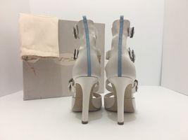 Women's 7 Light Heels Jessica Pink Parker Sandals Fugue Sarah High Evening Satin HYqy1PwS
