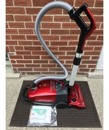 Red BISSELL DigiPro Bagged Canister Vacuum Cleaner Model 6900 Works - $89.25