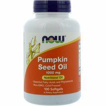 Now Foods Pumpkin Seed Oil 1000 mg, 100 Softgels - $15.99+