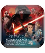 Star Wars The Force Awakens EP7 Lunch Plates 8 Count Birthday Party Supp... - $5.89
