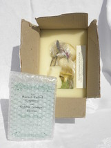 Franklin Mint Racket-Tailed Coquette Hummingbird Golden Trumpet Flower NIB - $27.99