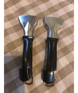 2 Vtg Corning Ware Twist Lock Detachable Black Handles Pot Pan Skillet C... - $9.89