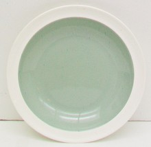 WEDGWOOD Barlaston Green Shallow Soup Creamy Wh... - $14.49
