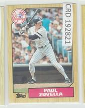 1987 Topps Paul Zuvella SS New York Yankees #102 192821 - $1.86