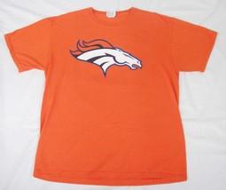 Denver Broncos Peyton Manning 18 T-Shirt Size Large Classic Orange Scree... - $24.74