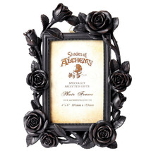 """Alchemy Gothic NEW Romantic Black Roses Picture Frame 4X6"""" Photo Gift De... - $24.95"""