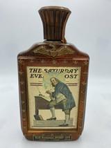 Jim Beam Bicentennial The Saturday Evening Post Benjamin Franklin Empty Bottle - $9.99