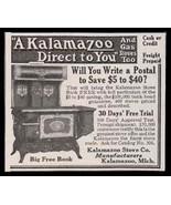 Kalamazoo Stove 1900 Antique AD Antique Kitchen Cooking Photo Illustrati... - $14.99