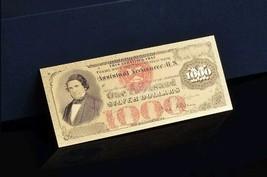"<GEM>1878 ""GOLD""$1,000 SILVER DOLLAR CERTIFICATE Rep.*Banknote W/COA~STUNN - $10.63"