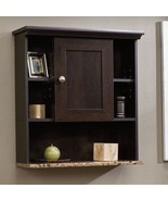 Brown Wooden Over Toilet Cabinet Organizer Storage Shelves Bathroom Wall... - $64.25