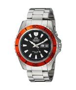 Orient Mako XL FEM75004B Orient automatic men's watch steel black orange - $169.00