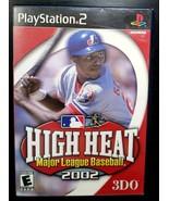 High Heat Major League Baseball 2002 (Sony PlayStation 2, 2001) Complete - $4.97