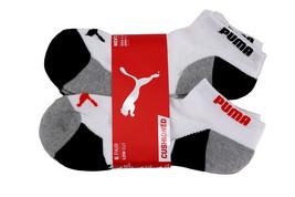 Puma Men's 6 Pack Low Cut Cushioned Sport Athletic Gym Moisture Control Socks image 1