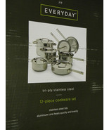 TRY PLY 12PC. S/S COOKWARE SET, LIFETIME WARRANTY - $242.35