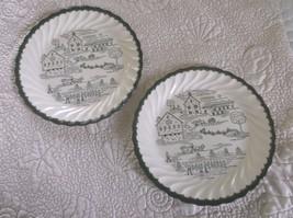 Royal USA Countryside F-52 Vintage Plates  Green on White - $28.49