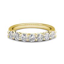 0.25 Carat G-H Diamond 7 Stone Bridal Wedding Anniversary Ring 14K Yello... - $474.21