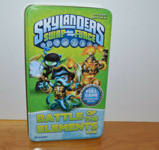 Skylanders Swap Force Battle Of The Elements Card Game Pressman Tin Box 2013 - $11.27